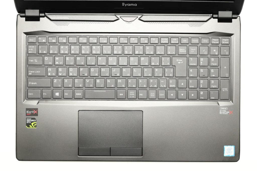 iiyama SENSE-15QX094-i7-RNRVI-DevelopRAWのキーボードとトラックパッド