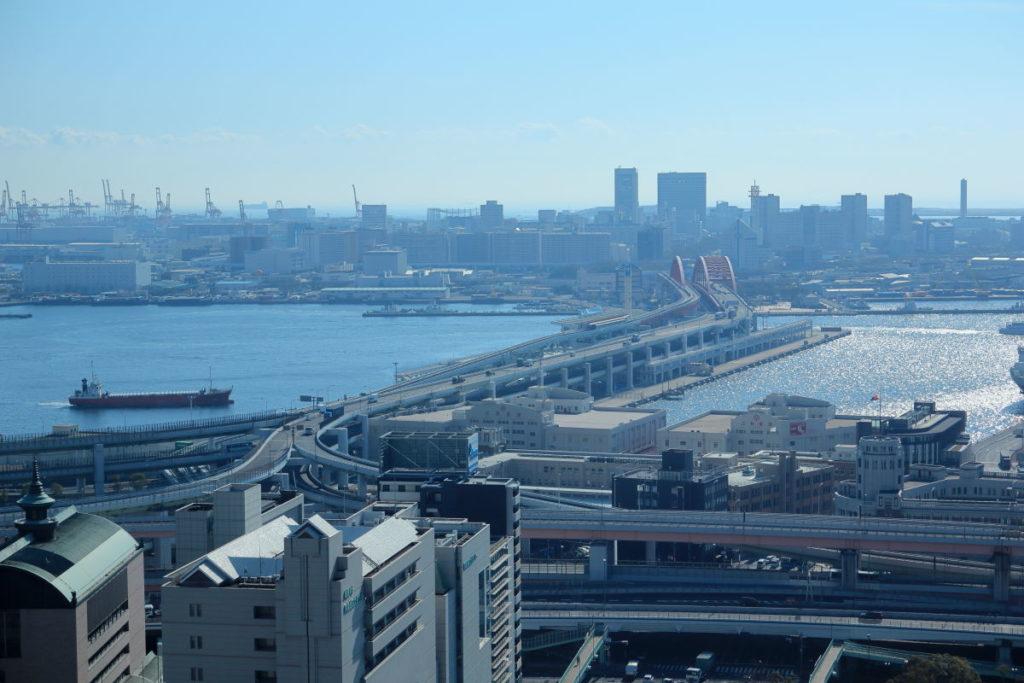 神戸市役所展望ロビーからの眺め
