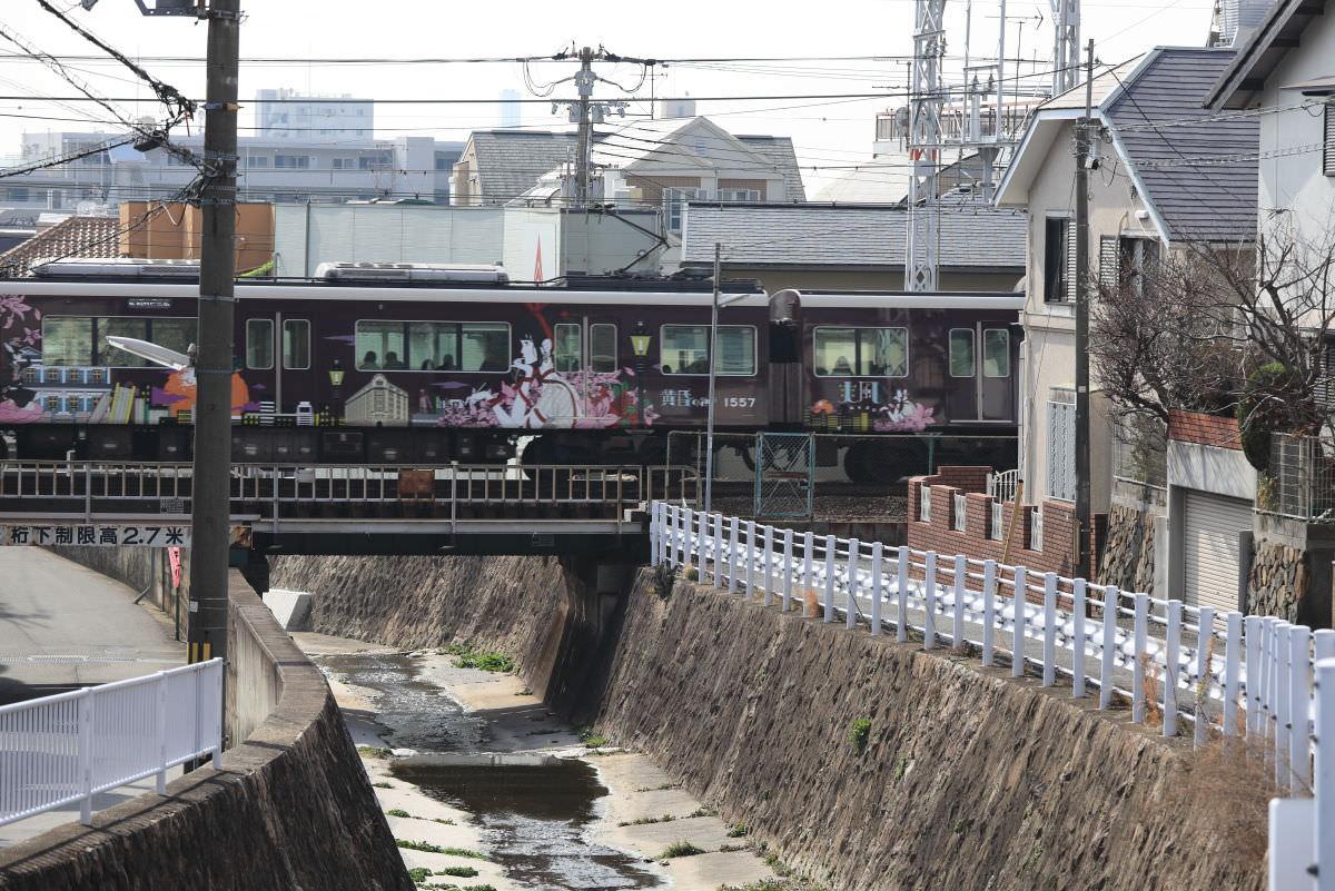 岡本の阪急電車