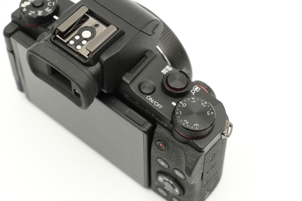 Powershot G1X MarkⅢの親指をかけるホールドグリップ