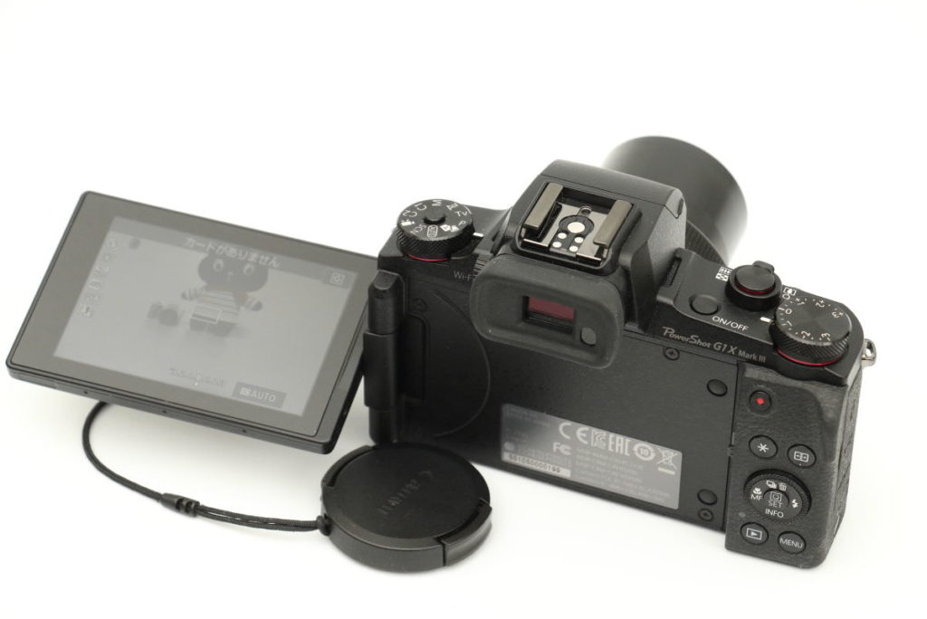 Powershot G1X MarkⅢのバリアングルモニター