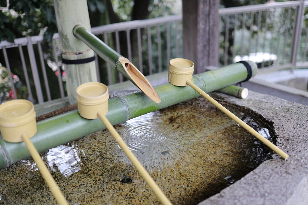 岡本 八幡神社 手水舎