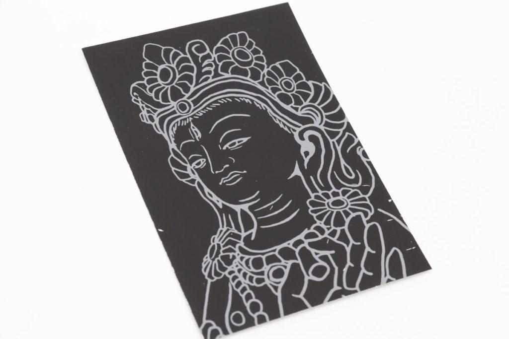 スクラッチアート 削仏シート「白多羅菩薩」