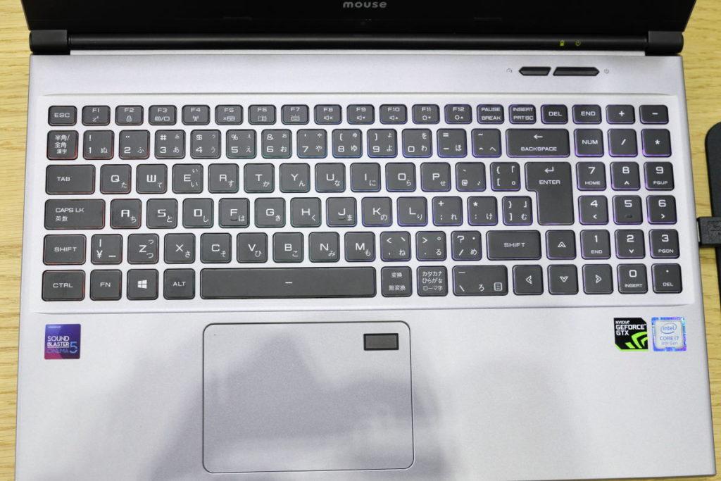 マウスコンピューター DAIV-NG5510 キーボード