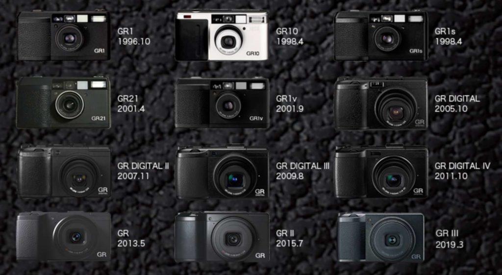 歴代のGRカメラ