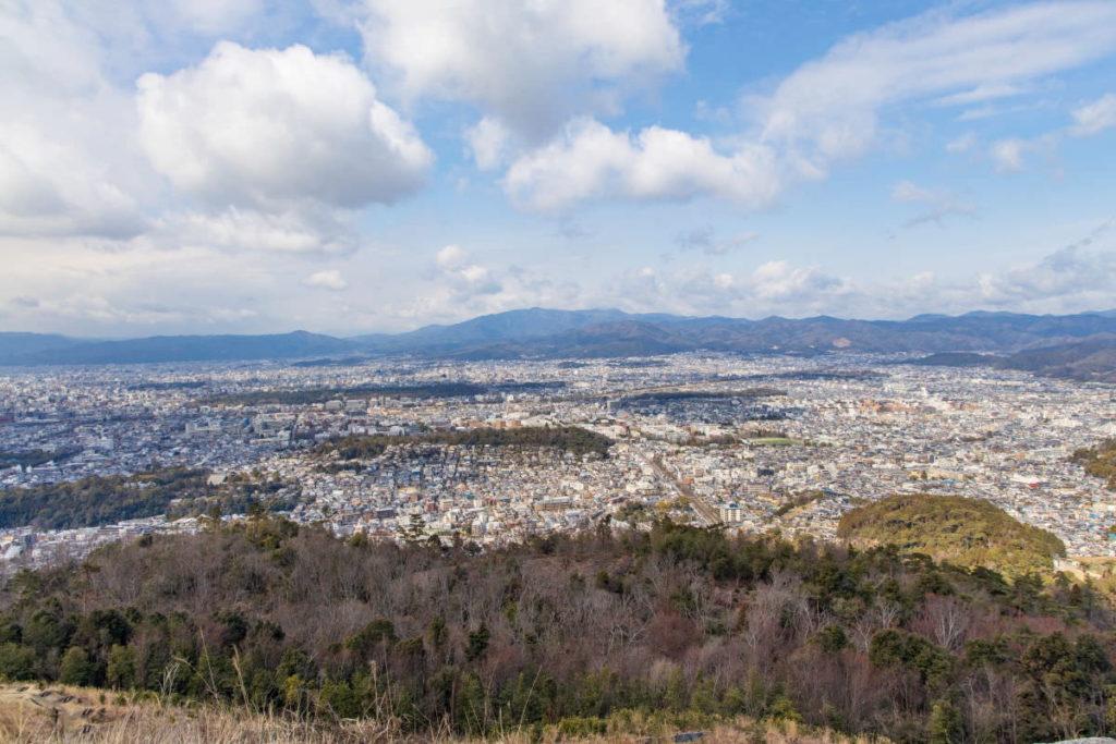 京都の大文字山からの展望