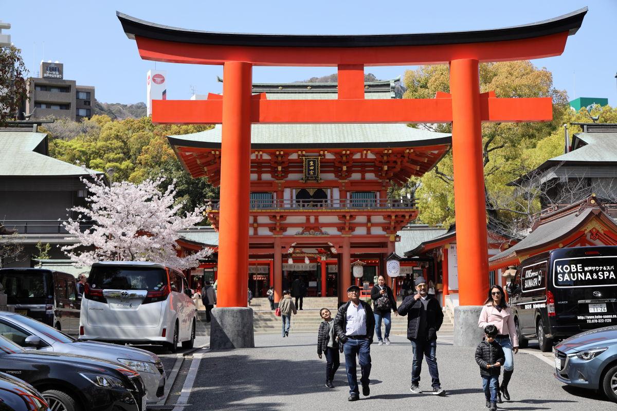 生田神社の桜 2019年4月9日