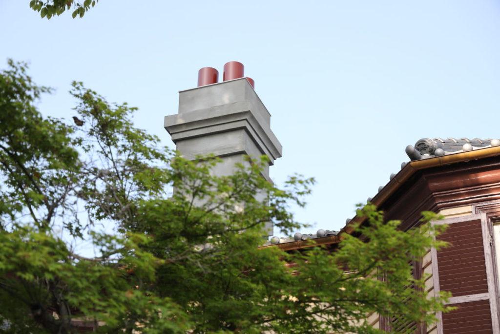 ラインの館の煙突