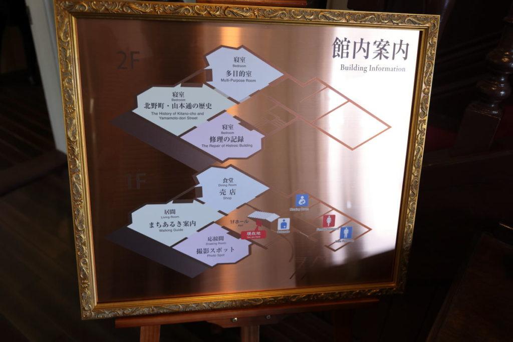 ラインの館 案内図