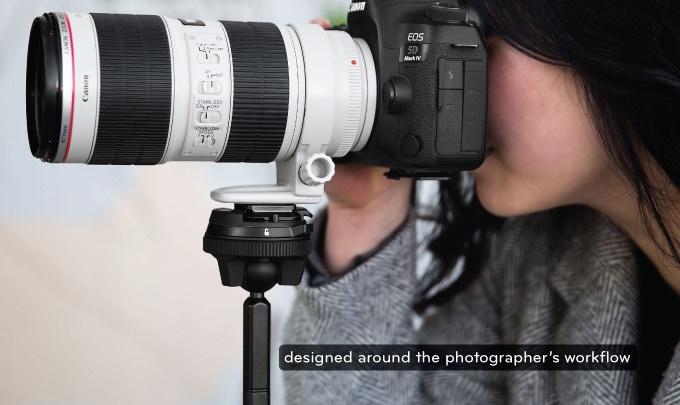 ピークデザインのトラベル三脚はフルサイズ一眼レフカメラと望遠レンズでも安定して支える