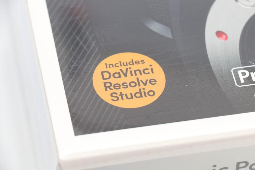DaVinci Resolve 有償ライセンスがBMPCC4Kに付属