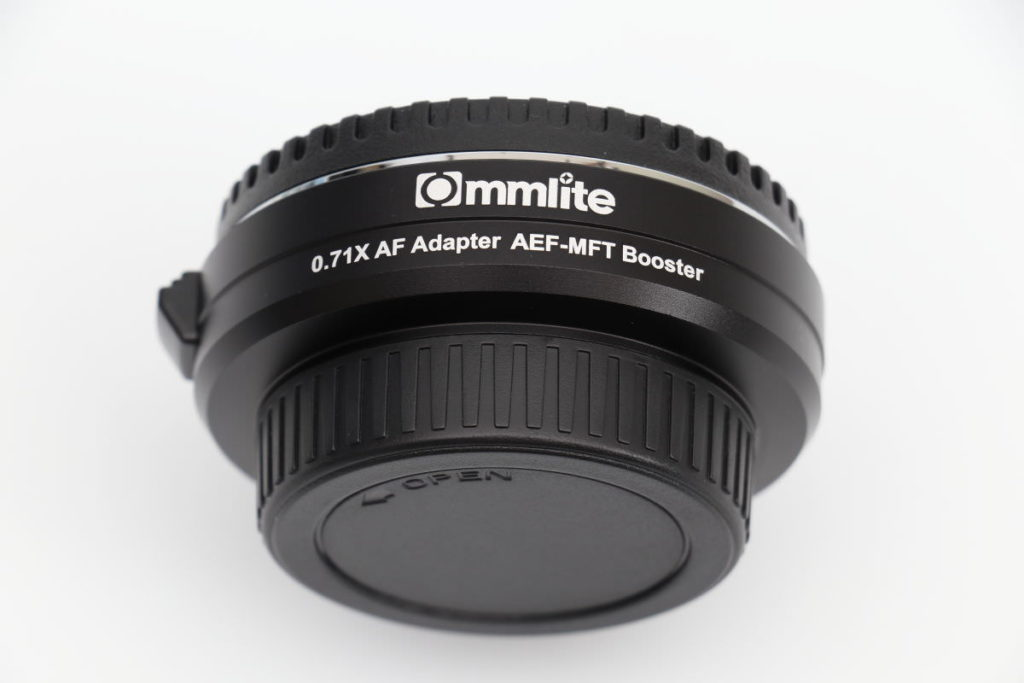 Commliteのフォーカルレデューサーマウントアダプター「CM-AEF-MFT Booster 0.71X」