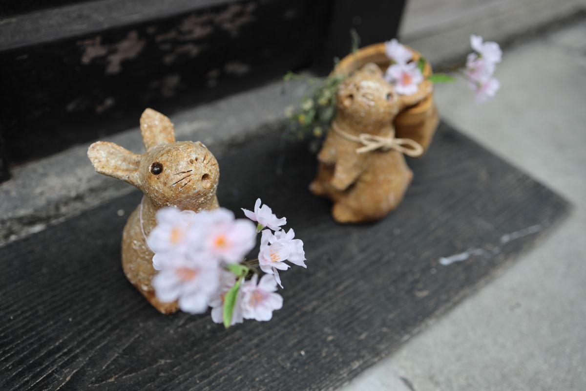 うさぎの置物 平成最後のフォトウォーク 京都