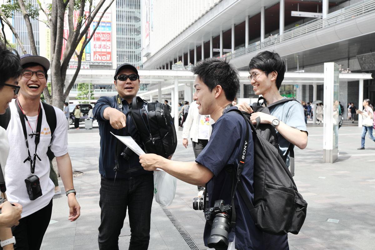 たけさんぽ福岡 博多駅前にて集合