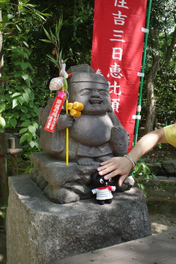 ご利益のある恵比寿さん像とコーベアー
