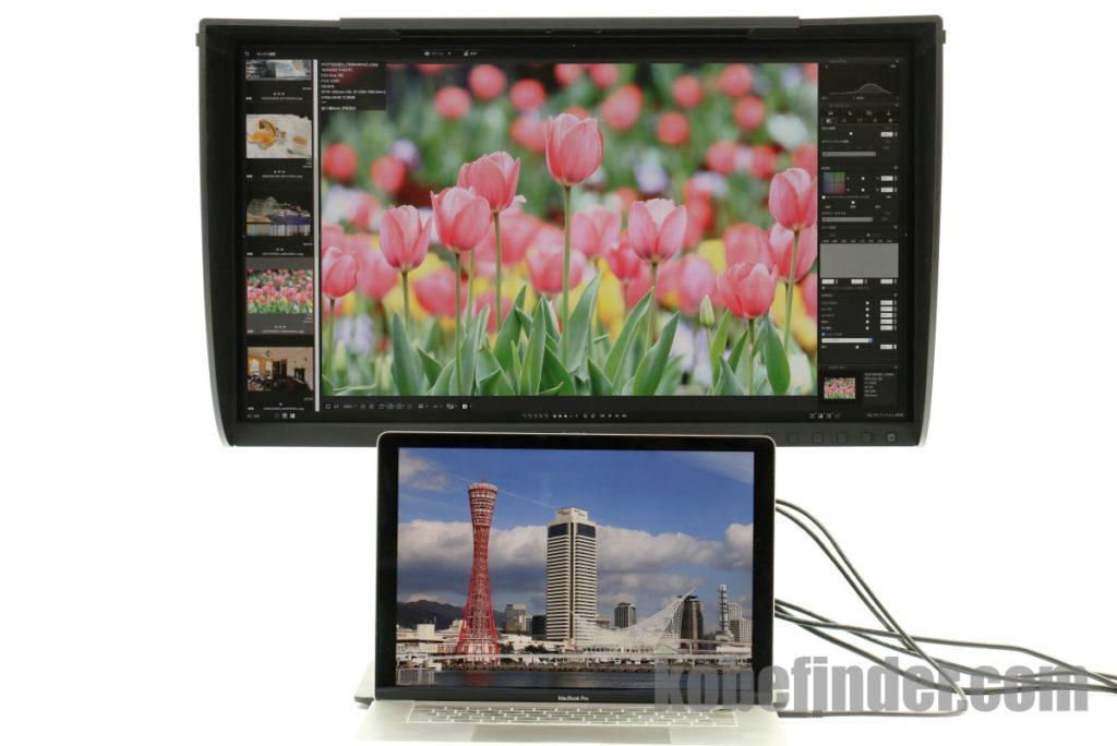 BenQ SW271とMacBook Pro