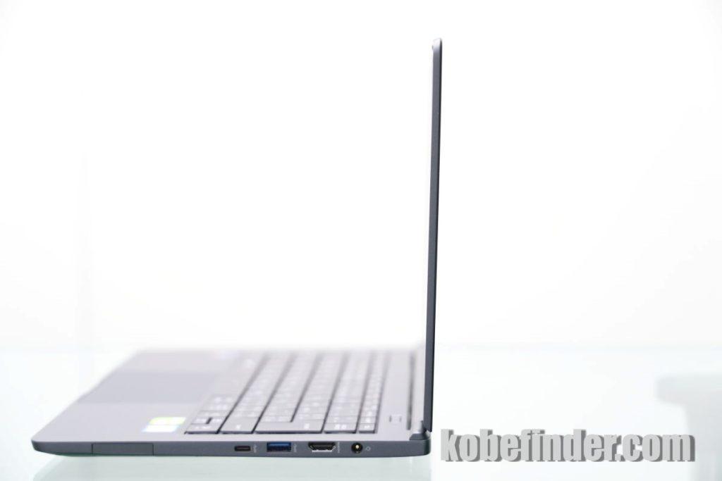 マウスコンピューター DAIV-NG4300 横から見た状態
