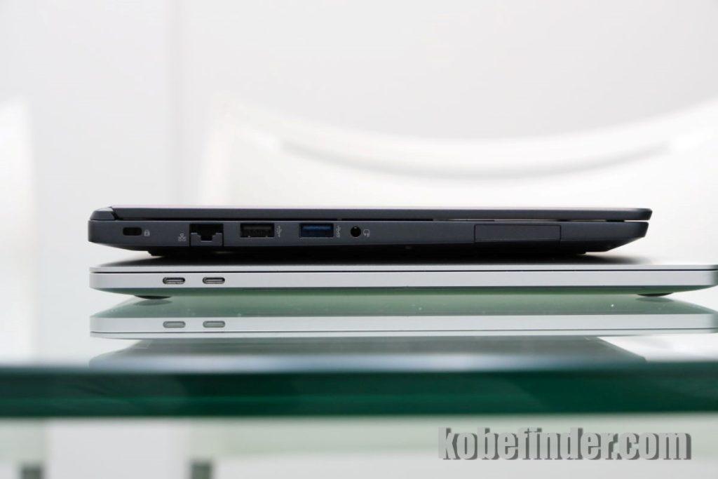 マウスコンピューター DAIV-NG4300とアップルMacBook Pro2016 15インチサイズの比較