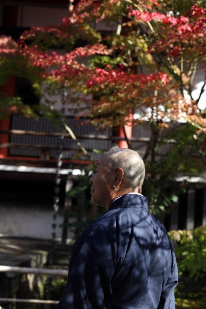 永観堂の紅葉 住職 お坊さん 京都