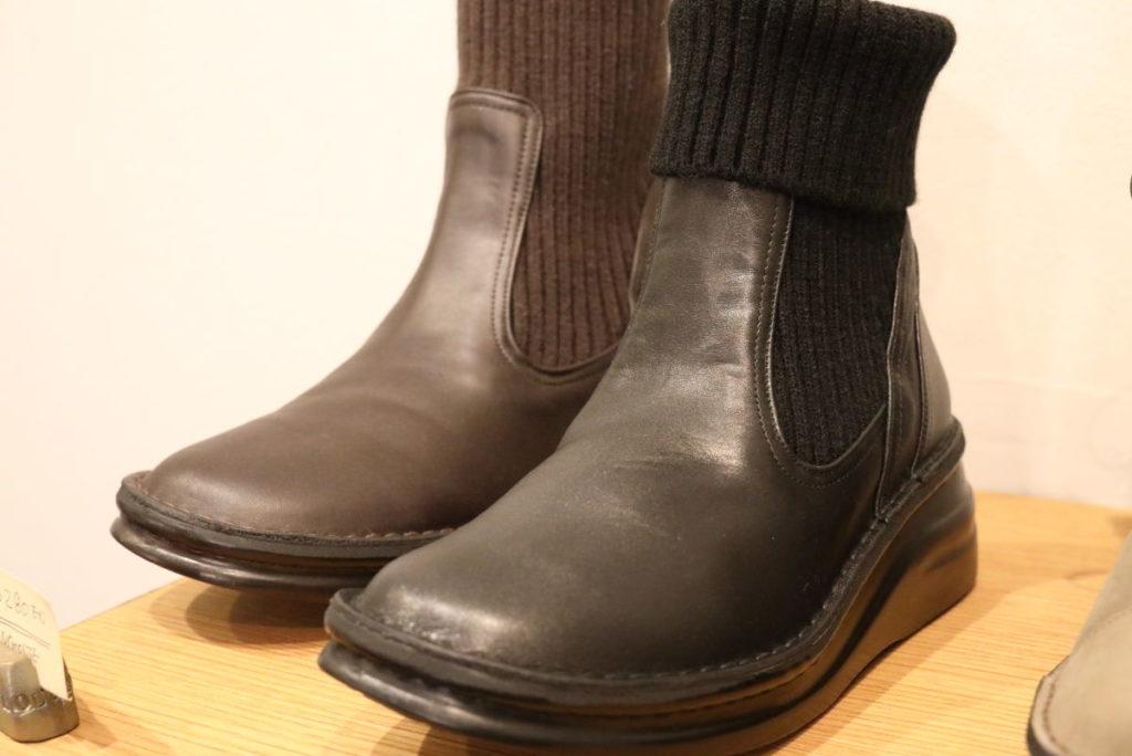 INCHOLJE インコルジェ 女性用革靴 ニット