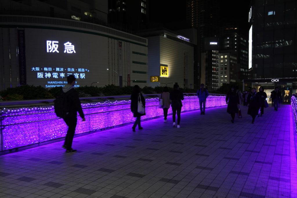 神戸三宮駅南イルミネーション「1,000mの光の回廊~KOBE LIGHT MESSAGE~」corridor2