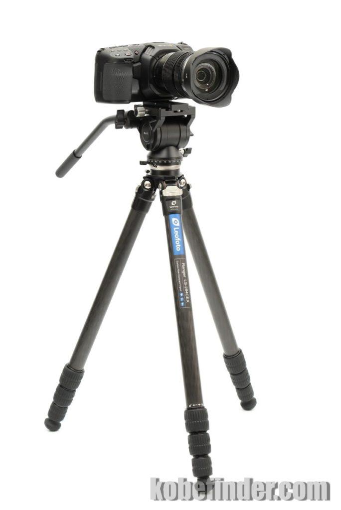 ポケシネ4Kとビデオ三脚 LS-284CEX アルカスイス互換のビデオ雲台BV-10 LS