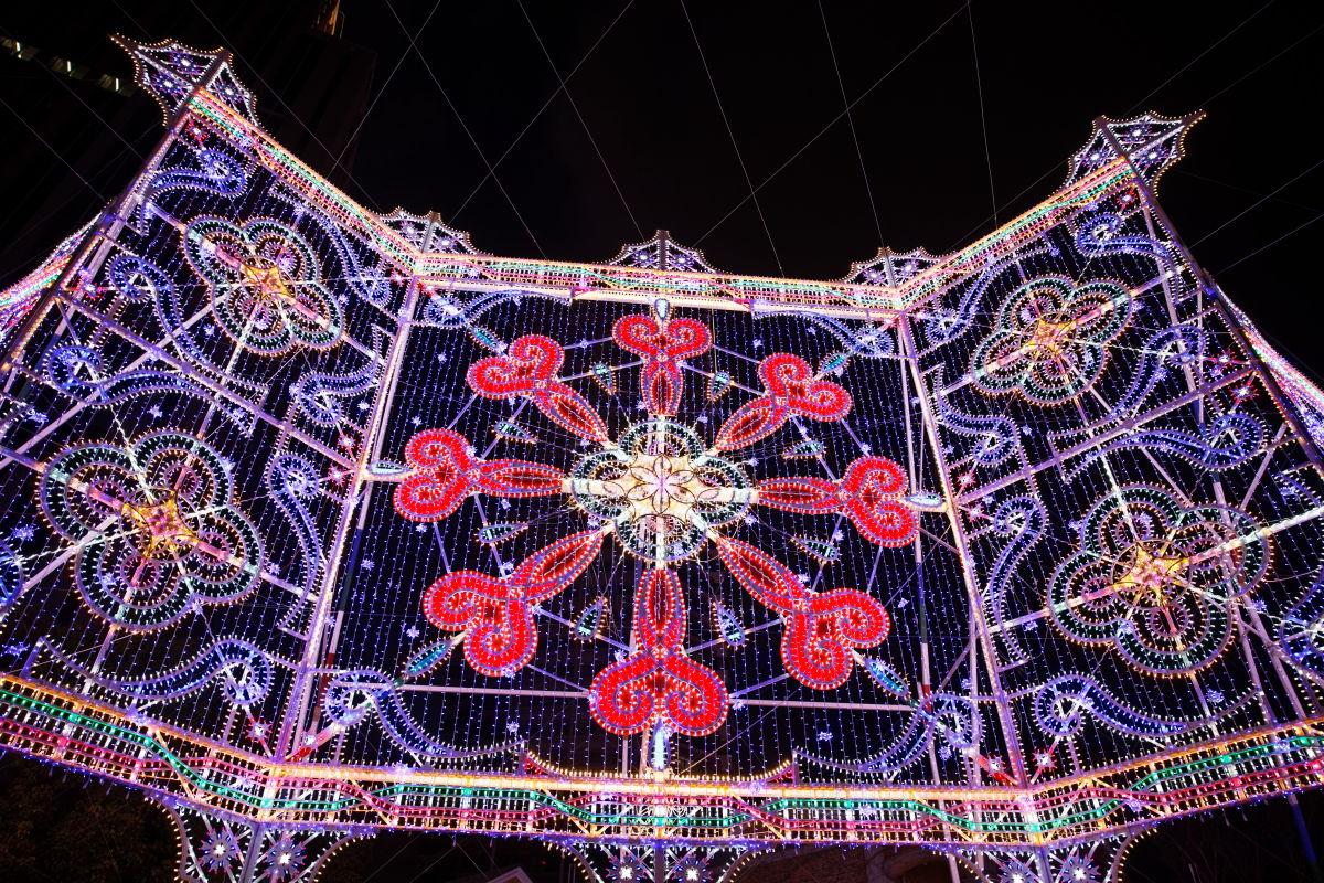 2019年12月8日のルミナリエ 噴水広場