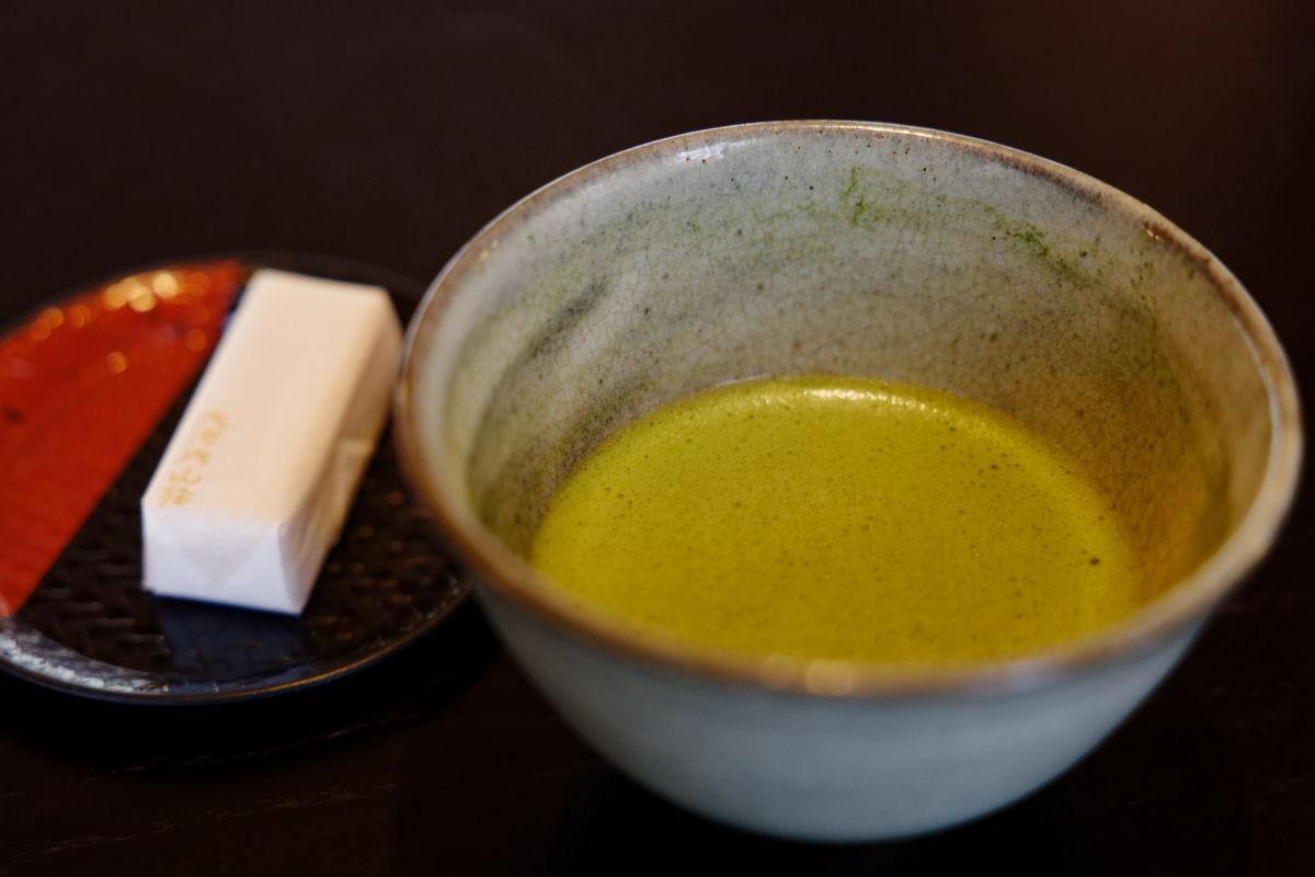大河内山荘庭園 お抹茶