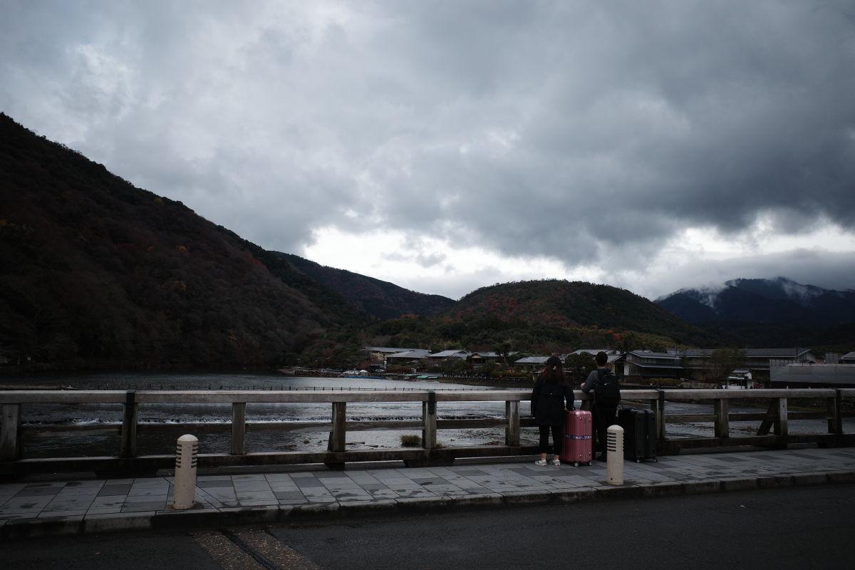 京都・嵐山 渡月橋