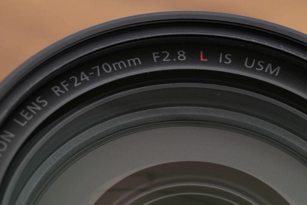 RF24-70mm F2.8 L IS USMレンズ外観