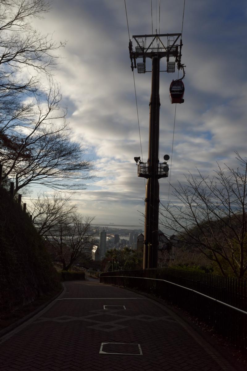 早朝の神戸布引ハーブ園