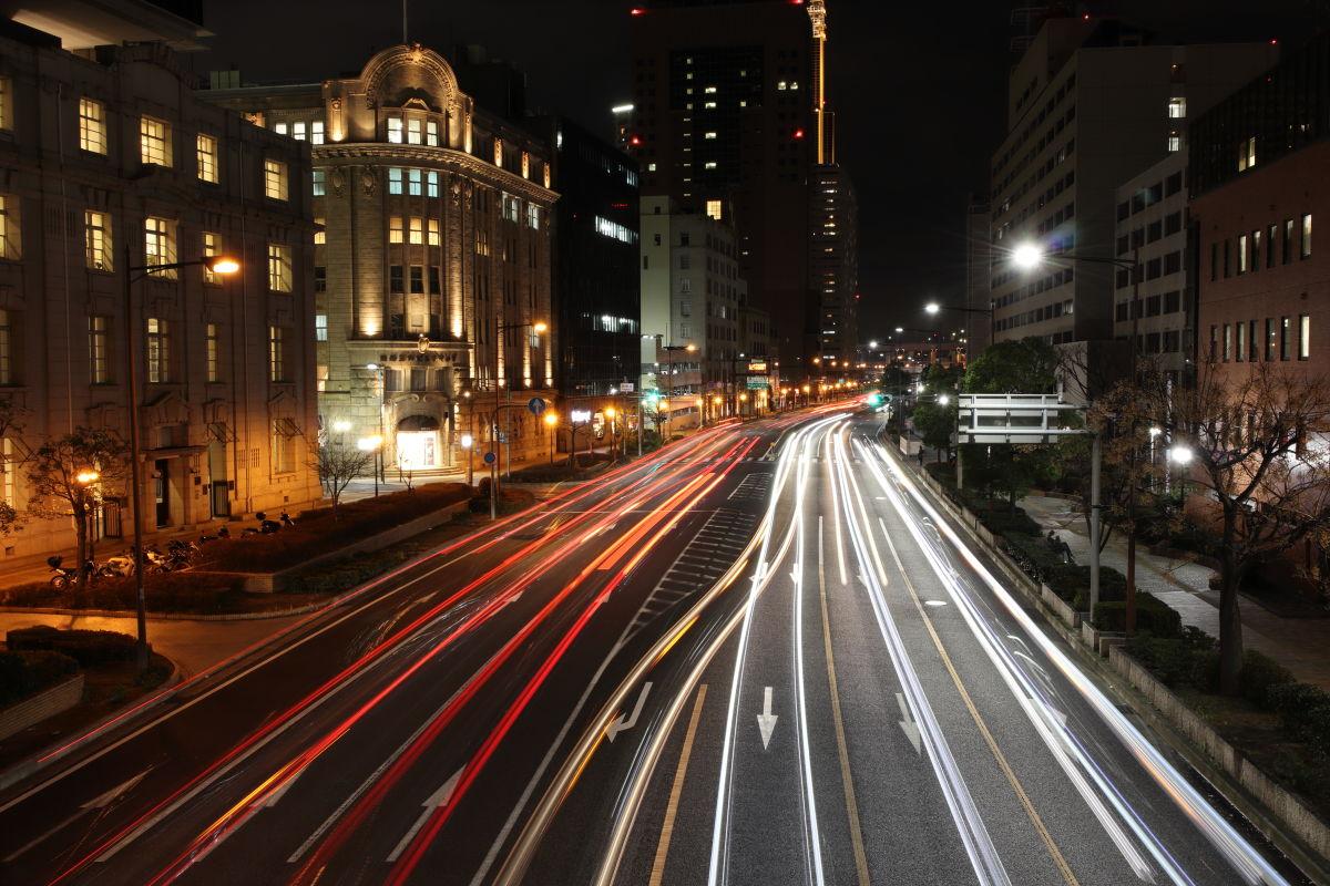 神戸の夜景写真 ピークデザインのトラベル三脚で撮影