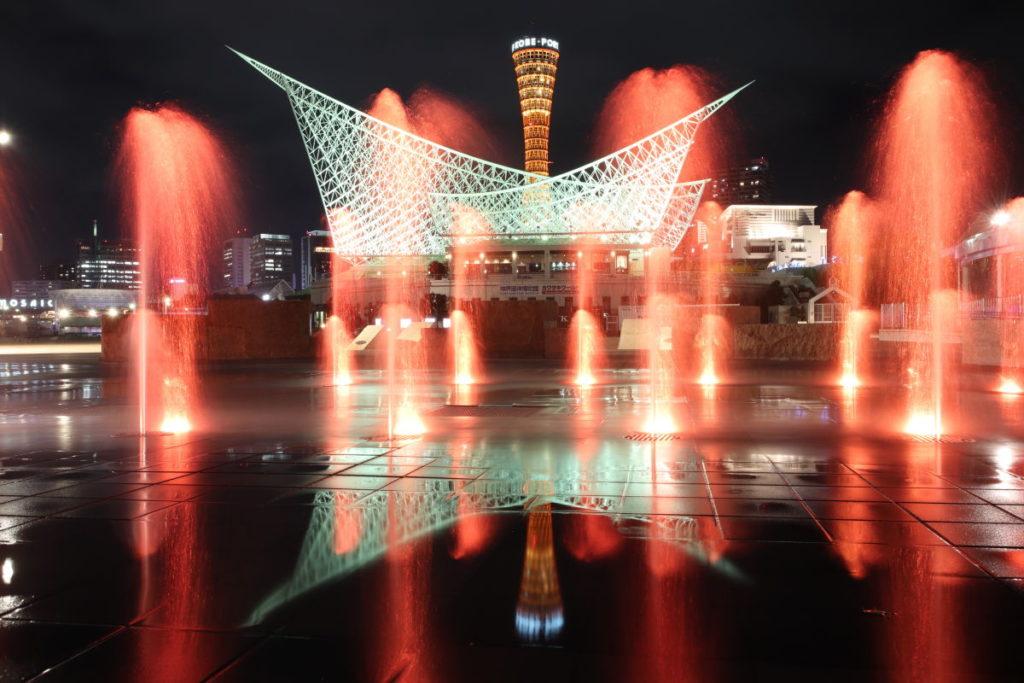 ピークデザインのトラベル三脚で撮影した神戸の夜景写真