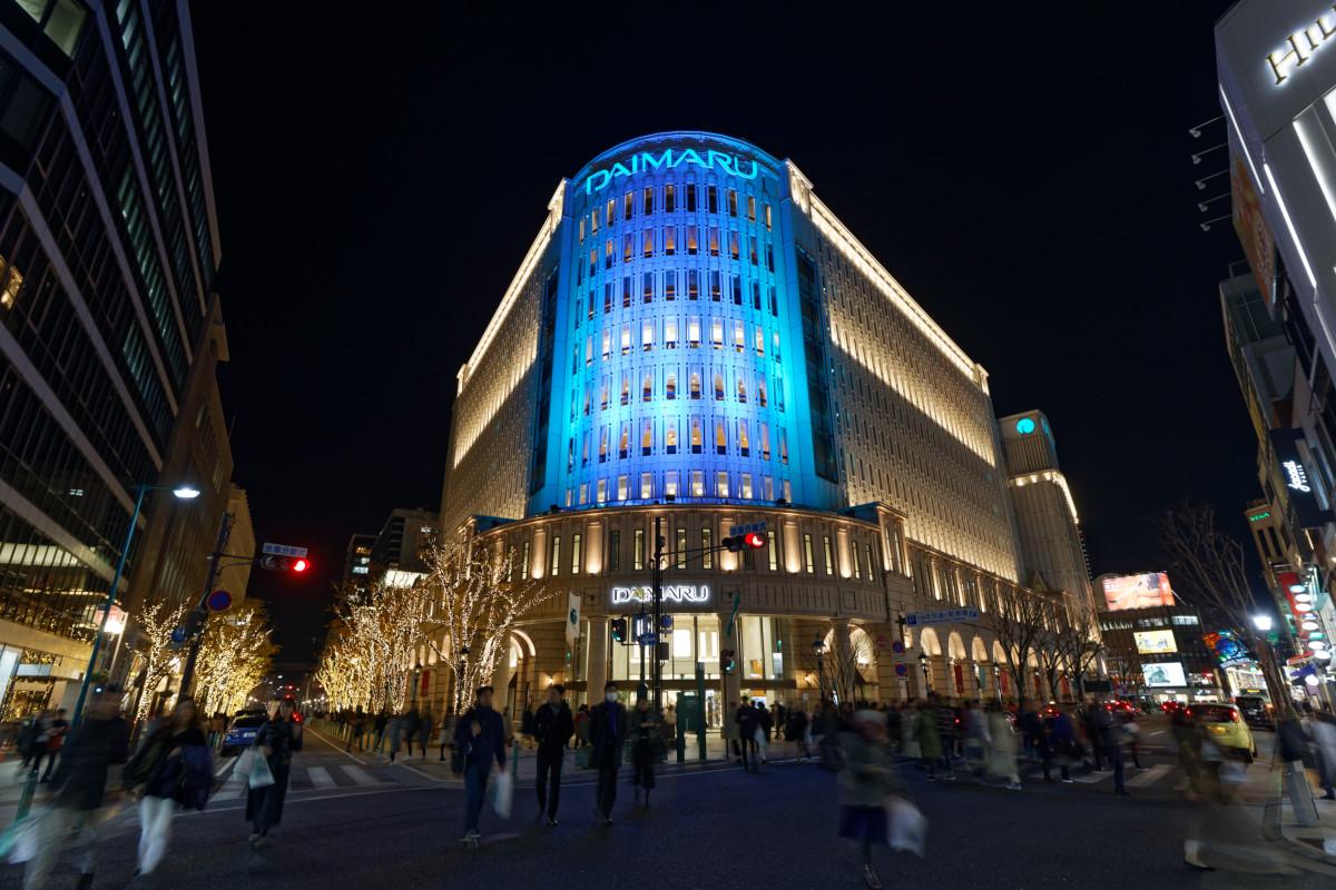 大丸神戸店前の夜景 RF15-35mm F2.8 L IS USMの作例写真