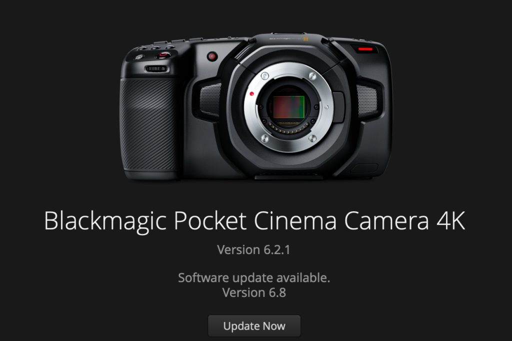 BlackmagicDesign PocketCinemaCamera4K アップデート