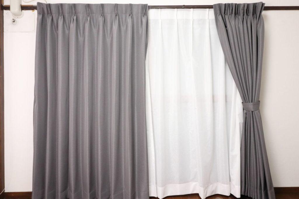 ジャストカーテンの遮光カーテン グレー オーダーメイド