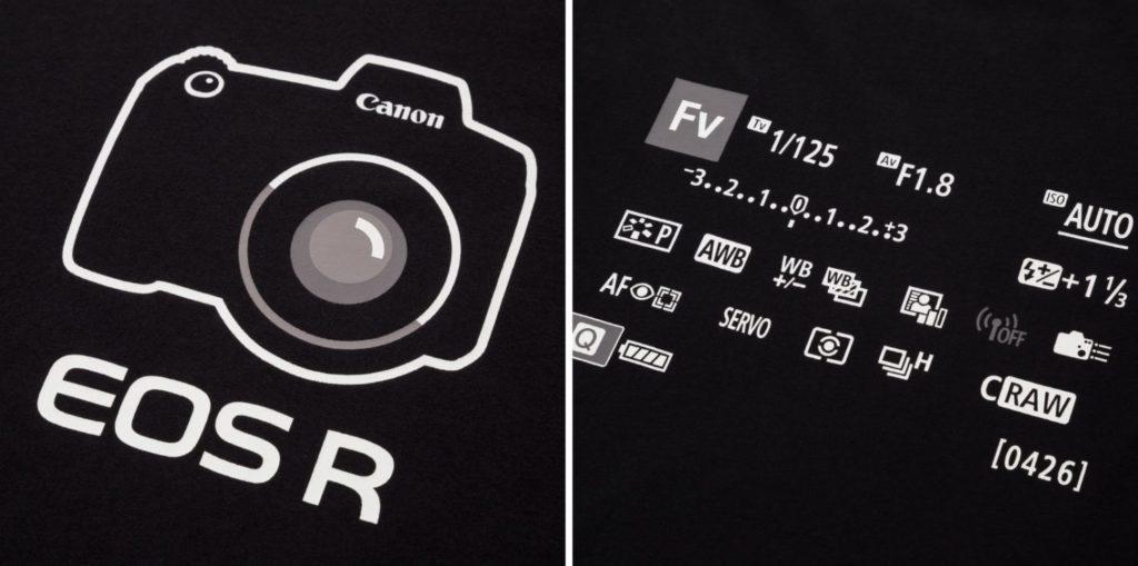 ユニクロ キヤノンの一眼カメラEOS RデザインのTシャツ