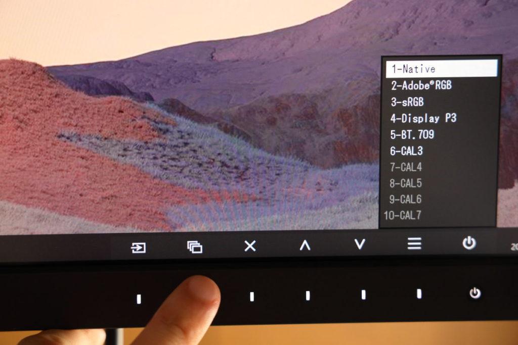 EIZO CS2740は最大10のカラーモードを登録できる