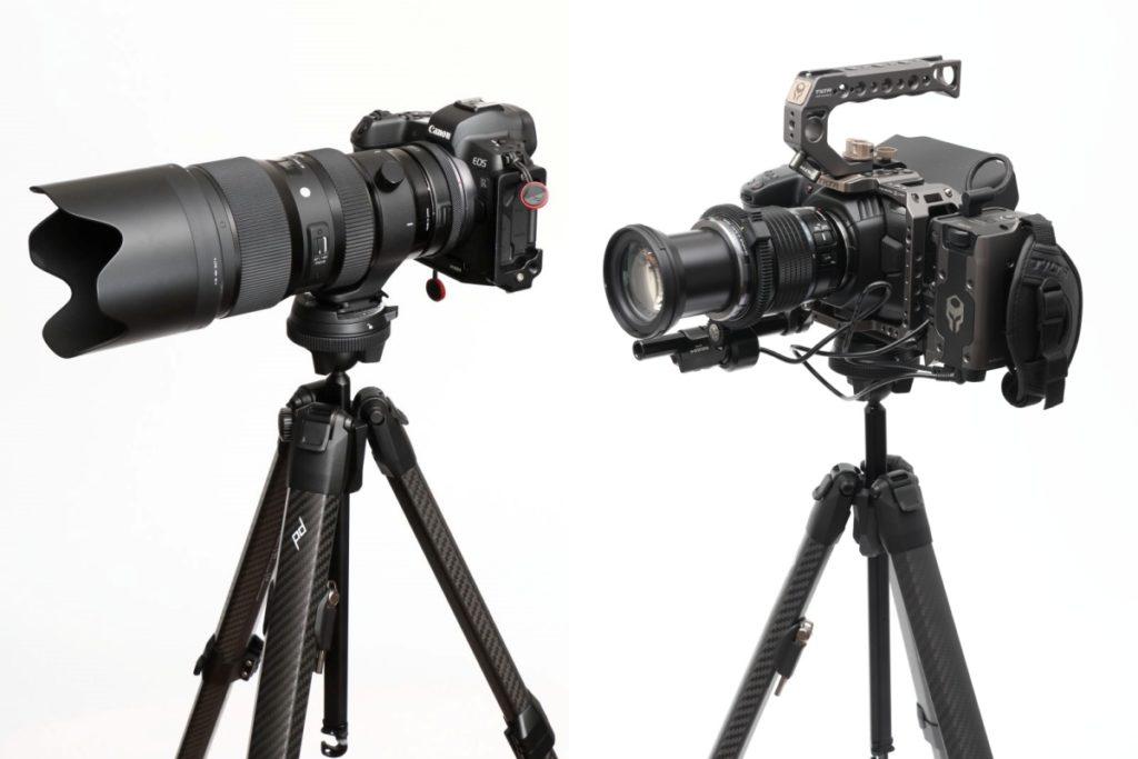 ピークデザインのトラベル三脚と重量級のカメラとレンズを載せた