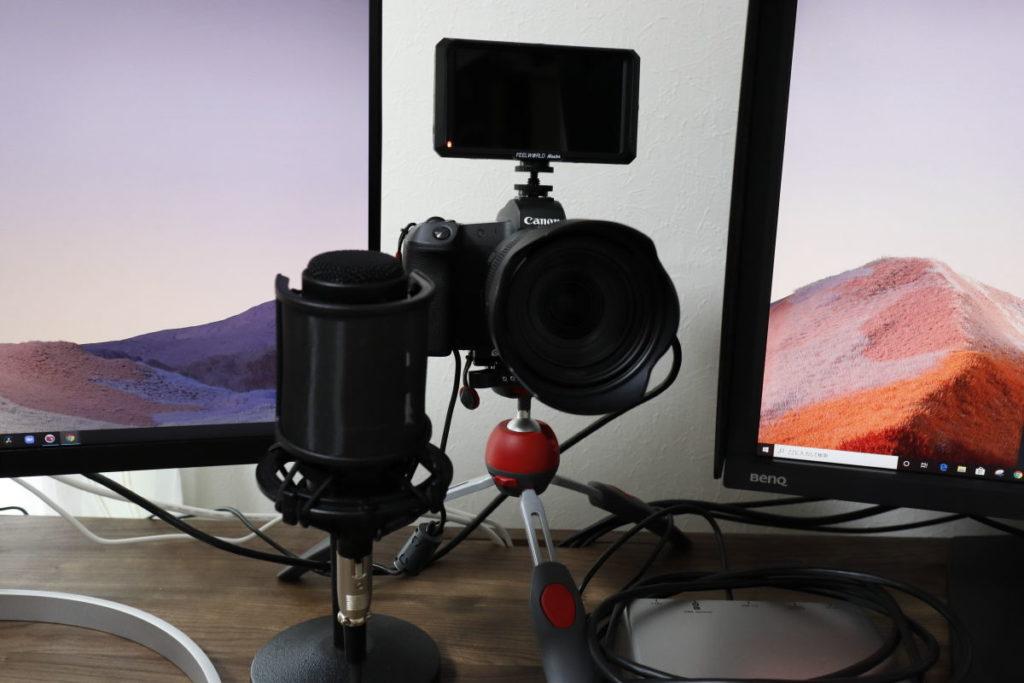 一眼カメラキヤノン EOS RをWEBカメラとして使用
