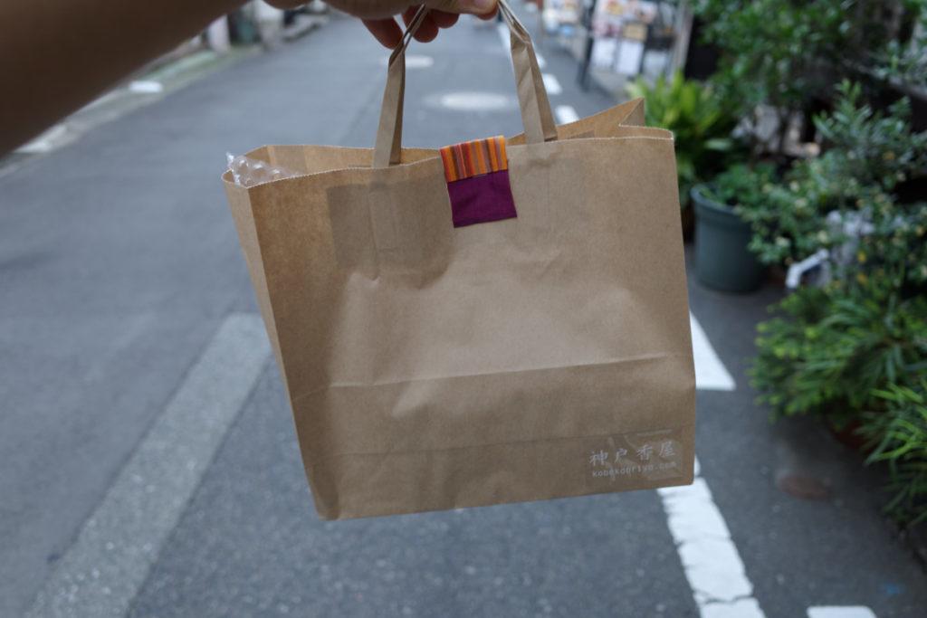 神戸香屋の紙袋