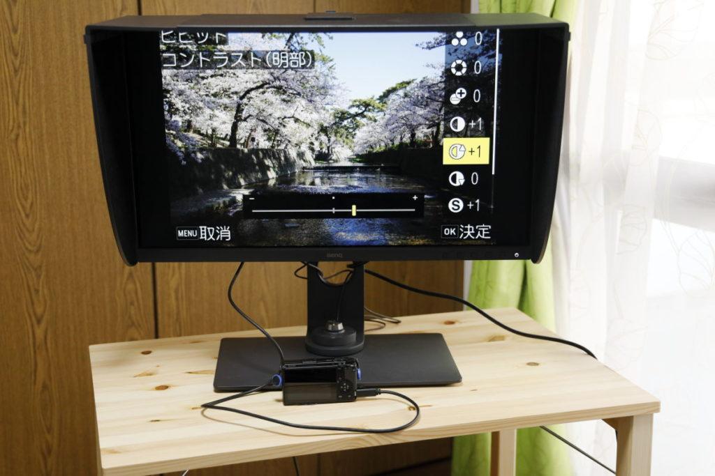 GR3 カメラ内RAW現像 USB-Cでディスプレイに接続