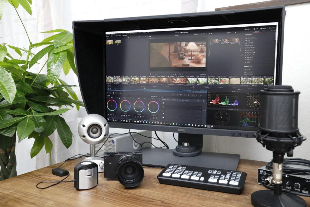 WQHDの広い作業スペースがあるので動画編集・写真編集が快適