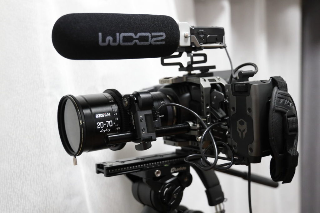 DZOFilmのシネマレンズをつけたBMPCC4K