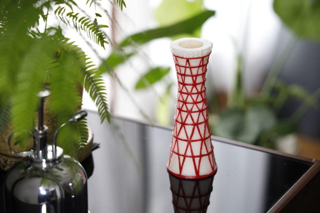 インテリア ポートタワー型のアロマキャンドル