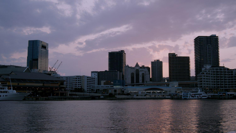 神戸港の夕焼け BMPCC4K