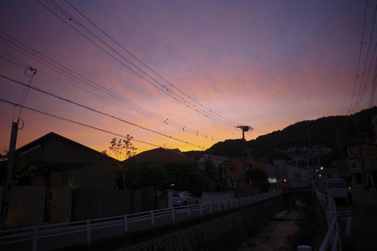 紫色の夕焼け GR3 スナップ