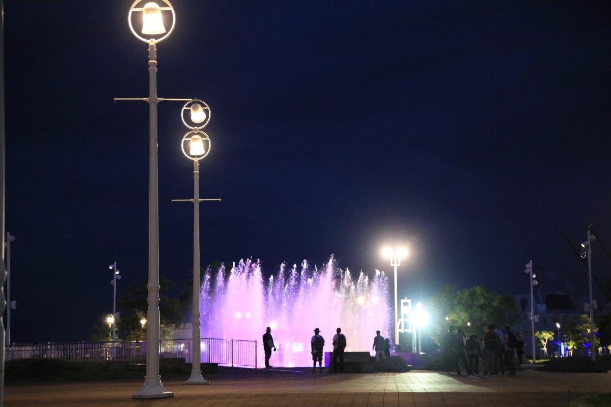 メリケンパークの噴水