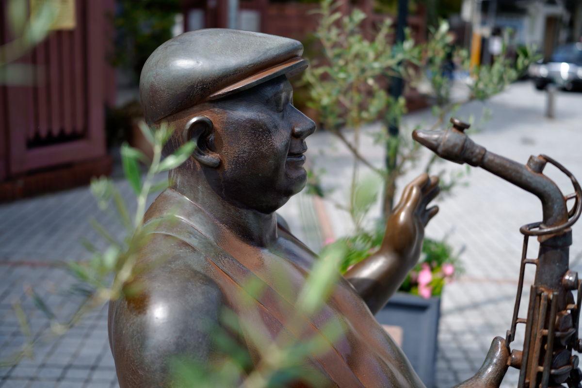 北野異人館の銅像