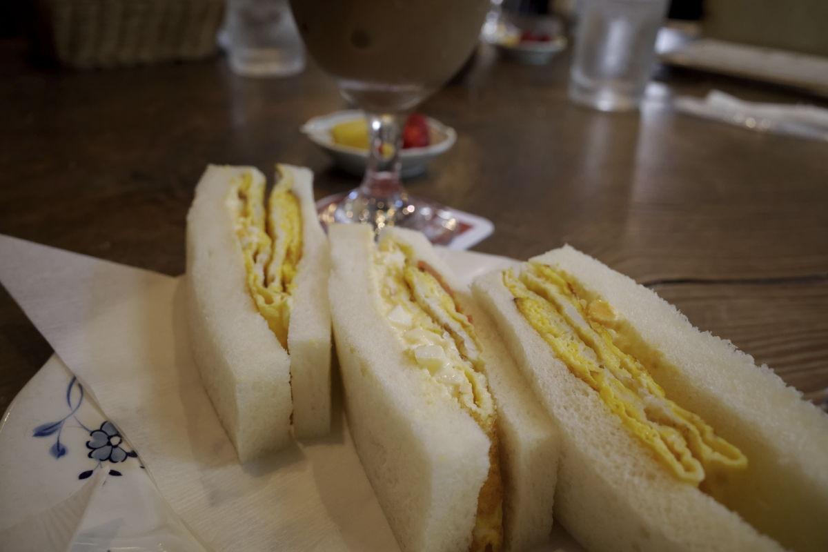 カフェバールこうべっこのたまごサンドイッチ